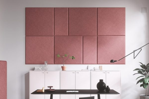 pink abstracta domo wall panels