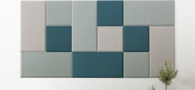 abstracta domo wall panels in grey and blue