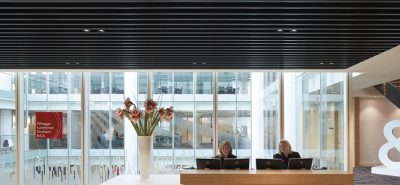reception area with two workers