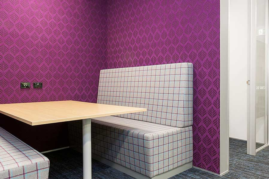 purple autex etch wall covering
