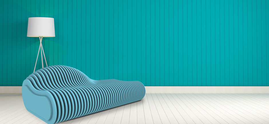 blue acoustic seating furniture