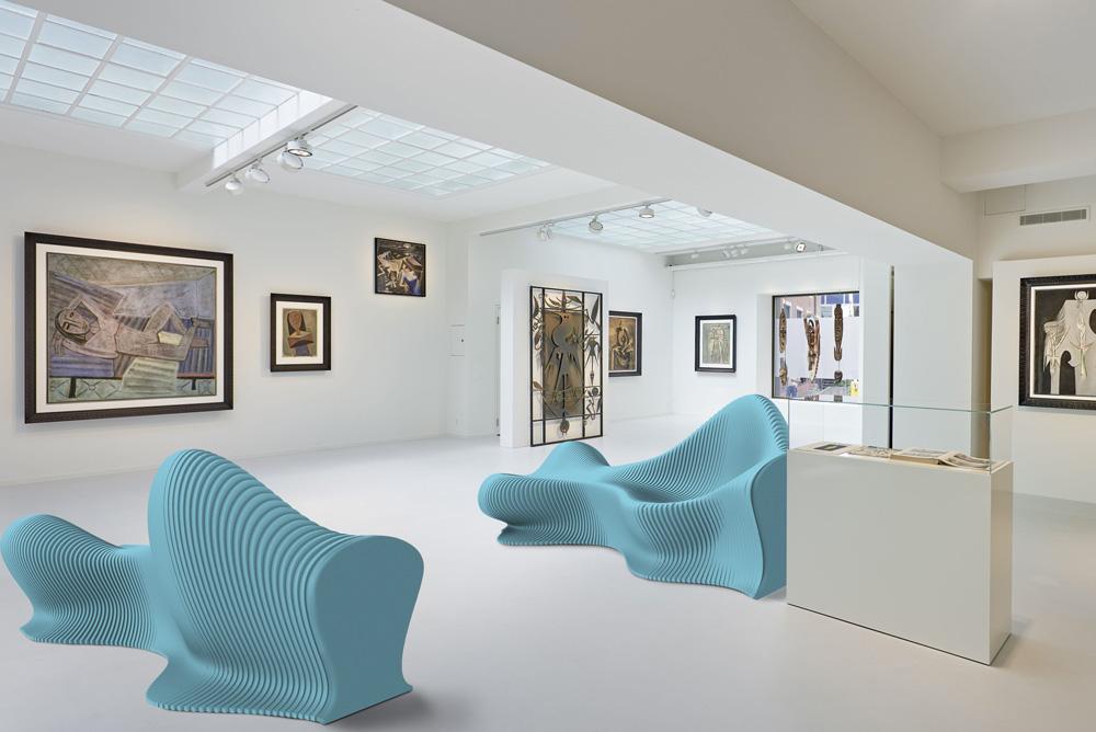14six8 fluid blue acoustic furniture