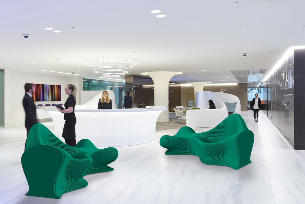 14six8 fluid green acoustic furniture