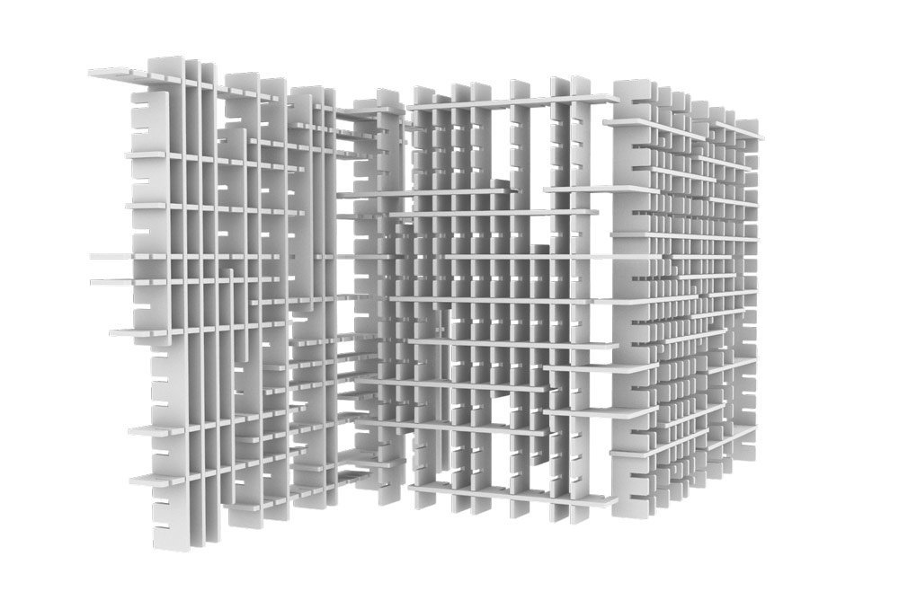 render of acoustic screens