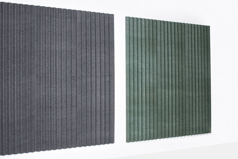 two acoustic panels on wall